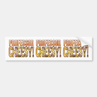 Professor Blue Cheesy Bumper Sticker