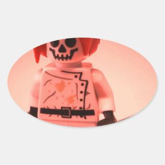 Professor Boom Custom Minifigure with Bomb Oval Sticker