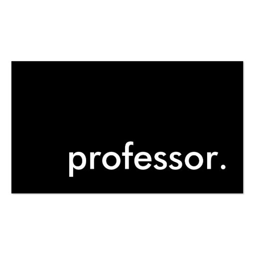 professor. Double-Sided standard business cards (Pack of 100)
