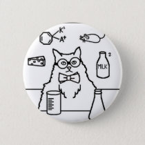 Professor Cat Button