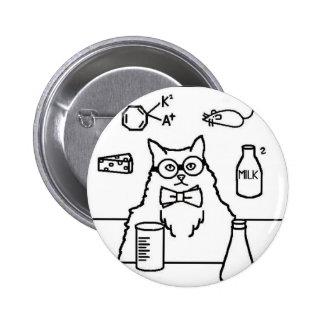 Professor Cat 2 Inch Round Button