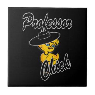 Professor Chick #4 Small Square Tile