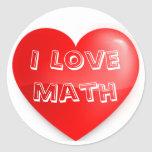 Professor Christy's I Love Math Sticker