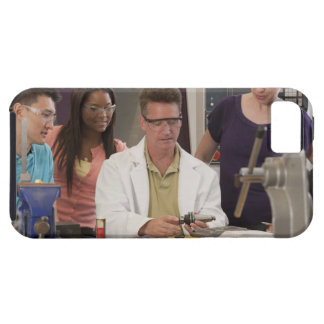 Professor demonstrating the tool holder from the iPhone SE/5/5s case