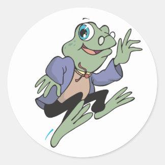Professor Frog Classic Round Sticker