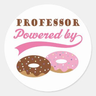 Professor Gift (Donuts) Round Sticker