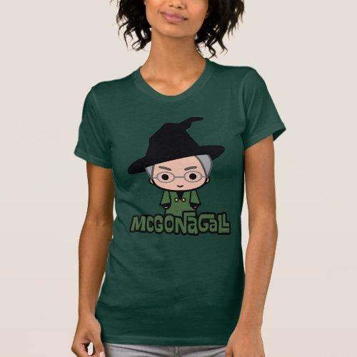 Professor McGonagall Cartoon Character Art T_Shirt