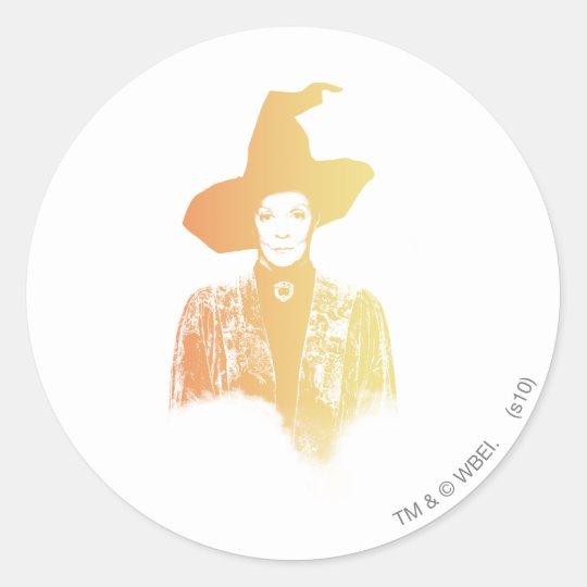 Professor Minerva McGonagall Classic Round Sticker