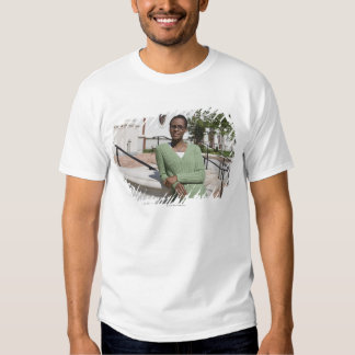 Professor on campus tee shirt