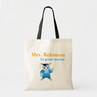 Professor owl - little teacher budget tote bag