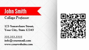 College professor business cards zazzle professor researcher red label qr code business card colourmoves