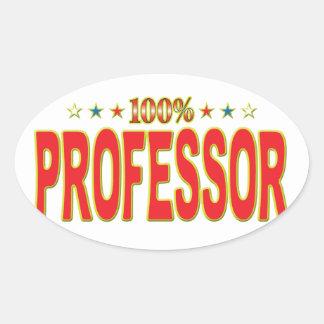Professor Star Tag Oval Sticker
