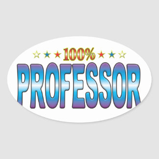 Professor Star Tag v2 Oval Sticker