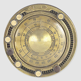 Professor Temple's Adaptive Marconiscope Classic Round Sticker