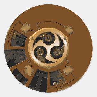 Professor Temple's Mechanical Enhanement Classic Round Sticker