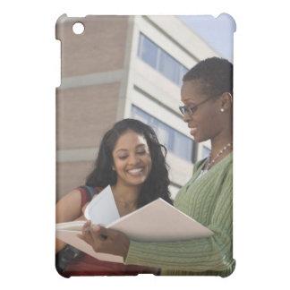 Professor with student iPad mini covers