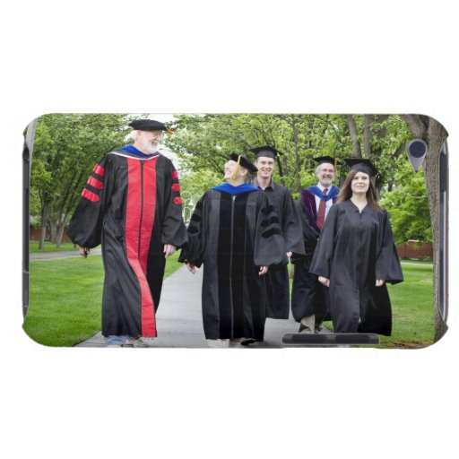 Professors and students walking to graduation Case-Mate iPod touch case