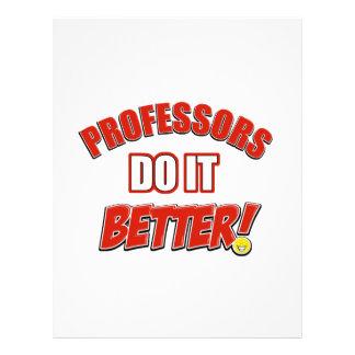 Professors job designs custom letterhead
