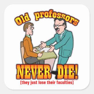 Professors Square Sticker