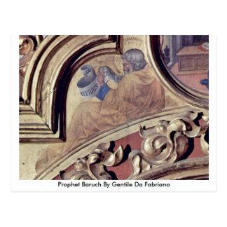 Profeta Baruch de Gentile da Fabriano Tarjetas Postales