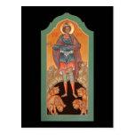 Profeta Daniel en la tarjeta del rezo de la Tarjetas Postales