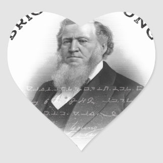 ¡Profeta de Brigham Young de la edición del Pegatina En Forma De Corazón