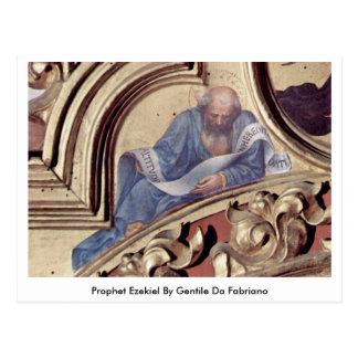 Profeta Ezekiel de Gentile da Fabriano Postal