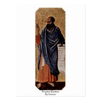 Profeta Ezekiel por Duccio Tarjetas Postales