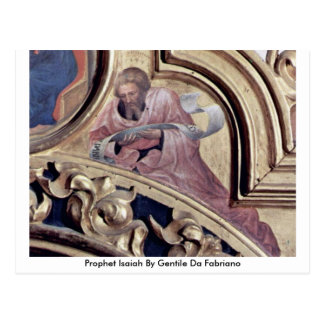 Profeta Isaías de Gentile da Fabriano Tarjeta Postal