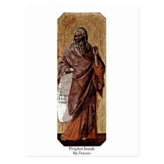 Profeta Isaías por Duccio Tarjeta Postal