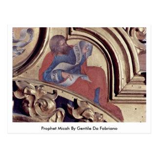 Profeta Micah de Gentile da Fabriano Tarjetas Postales