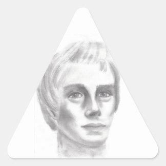 Profeta mormón de Joseph Smith LDS Pegatina Triangular