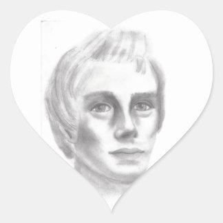 Profeta mormón de Joseph Smith LDS Pegatina En Forma De Corazón