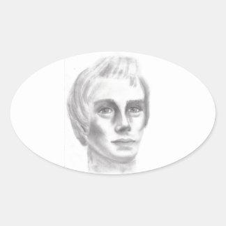 Profeta mormón de Joseph Smith LDS Pegatina Ovalada