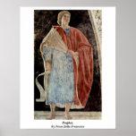 Profeta. Por Piero della Francesca Póster