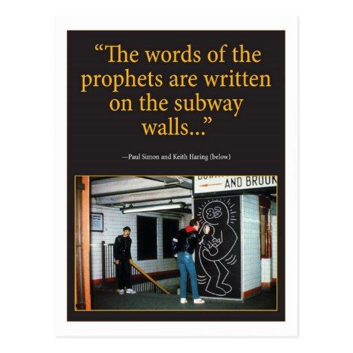 Profetas Tarjeta Postal