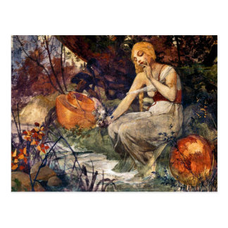 Profetisa de Alfons Mucha 1896 Postal