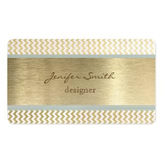 Proffesional elegant chevron gold business card