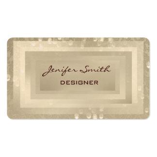 Proffesional elegant damask bokeh business cards