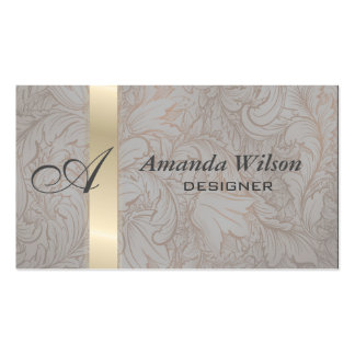 Proffesional elegant floral monogram business card