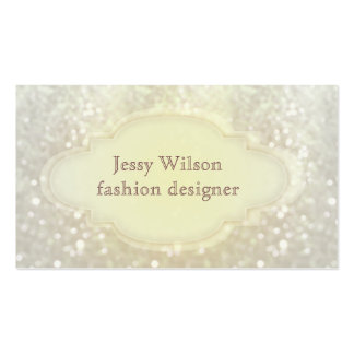 Proffesional elegant glitter bokeh Double-Sided standard business cards (Pack of 100)