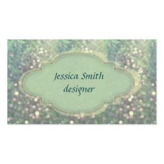 Proffesional elegant glitter bokeh business cards