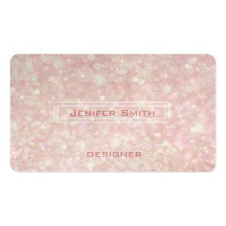 Proffesional elegant glitter bokeh business card templates