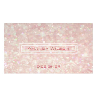Proffesional elegant glitter bokeh business card