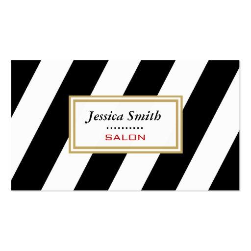 Proffesional elegant modern gentle stripes business card