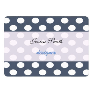 Proffesional elegant modern polka dots large business cards (Pack of 100)