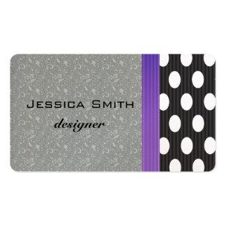 Proffesional elegant polka dots business card