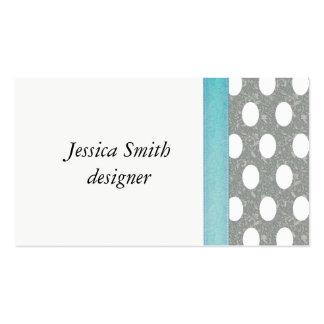 Proffesional elegant polka dots business card templates