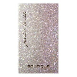 Proffesional glamorous elegant glittery business card