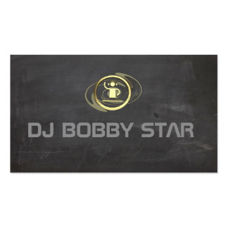Proffesioneel gold DJ pictogram visiting card Double-Sided Standard Business Cards (Pack Of 100)